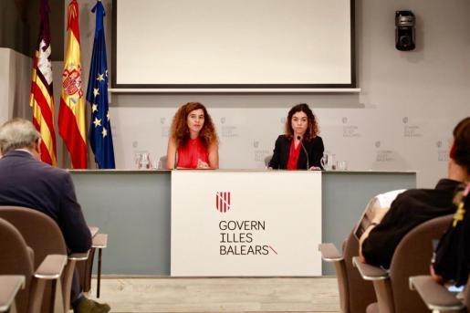 Pilar Costa (Presidència y portavoz) y Rosario Sánchez (Hisenda) concretaron este viernes lo que serán los Presupuestos de 2020.