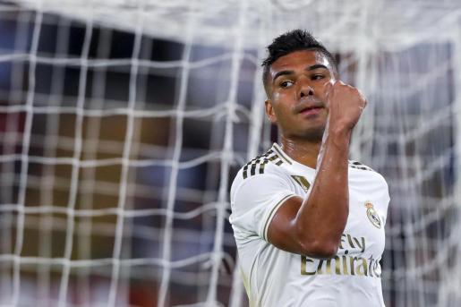 Casemiro, durante un partido del Real Madrid.