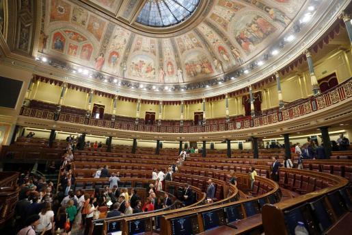 Vista general del hemiciclo del Congreso de los Diputados. m