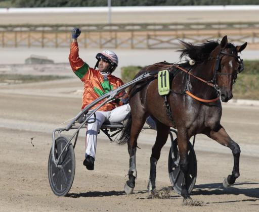 Imagen de Billie de Montfort tras ganar en Son Pardo.