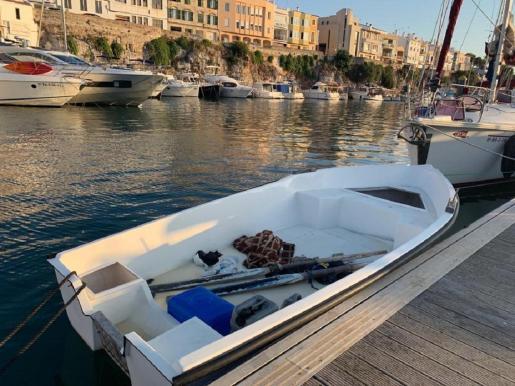 Imagen de archivo de una patera en Menorca.