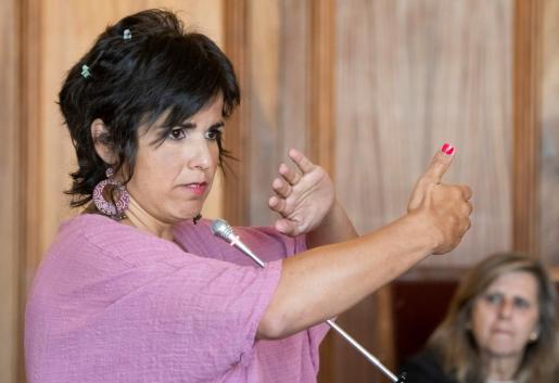 La coordinadora de Podemos Andalucía, Teresa Rodríguez, durante el juicio.