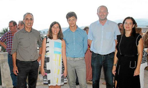 Joan Riera, Neus Truyols, Guillem Tomàs, Biel Horrach y Cati de Juan.