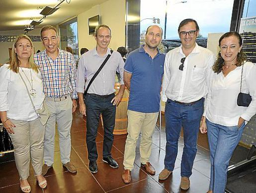 Inmaculada Romeguera, Juan Bonet, Manu Carmona, Gabriel Fuster, Juanjo Elías y Carmen Zaforteza.