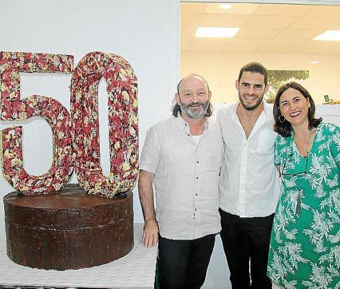 Moncho Ferrer, Lluís Pérez e Isabel Pizà.