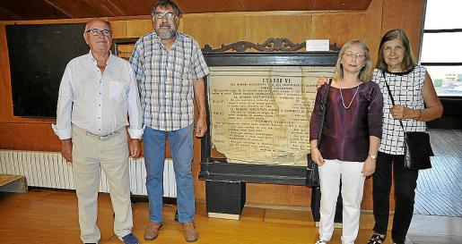 Joan Martín, Miquel Roig, Isabel Bordoy y Francisca Pol.