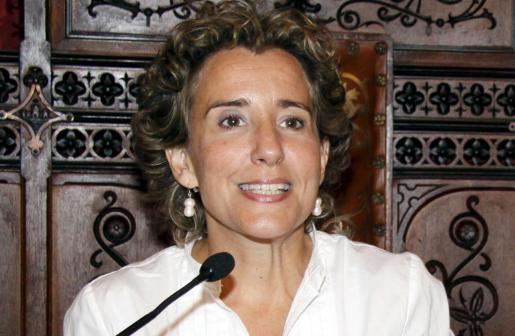 Aina Calvo, en un pleno del Ajuntament de Palma