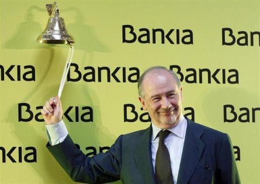 Rodrigo Rato en la salida a Bolsa de Bankia.