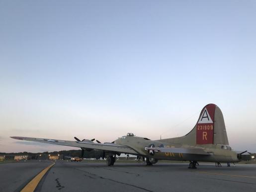 Imagen de archivo de un ombardero B-17.
