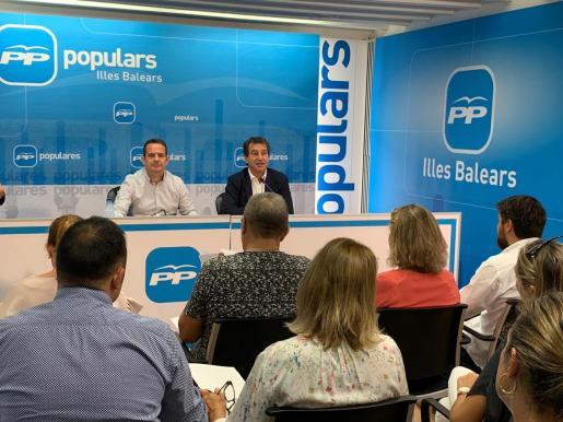 Biel Company ha participado este sábado en la reunión informativa de coordinadores de campaña para dar inicio a la precampaña cara a las elecciones del 10N.