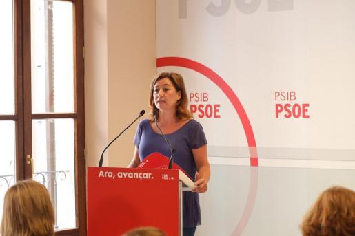 Francina Armengol, durante su discurso en el Consejo Político extraordinario del PSIB-PSOE.
