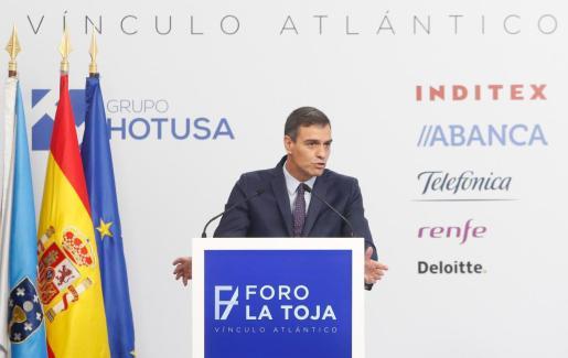 El presidente del Gobierno en funciones, Pedro Sánchez, clausura el I Foro La Toja-Vínculo Atlántico.