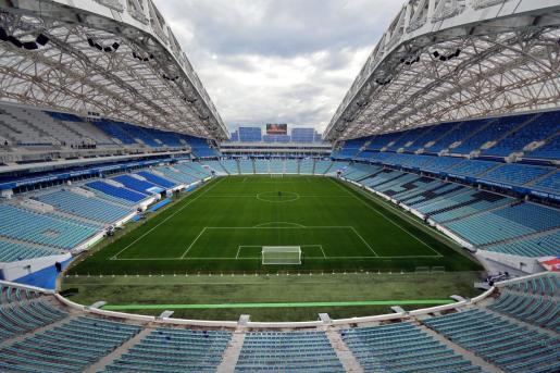 Vista general del Estadio Olímpico de Sochi, Rusia, una de las sedes donde se disputó el pasado Mundia.