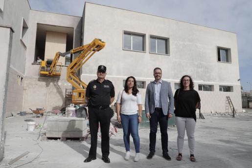 Imagen de la visita oficial a las obras, este lunes.