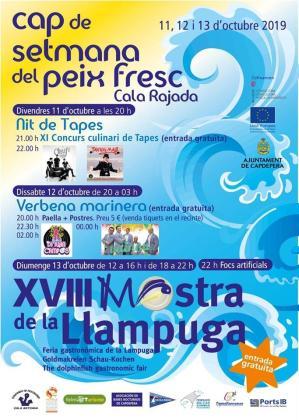 Cala Rajada celebra la XVIII Muestra de la Llampuga, incluida dentro del Fin de Semana del Pescado Fresco, los días 11, 12 y 13 de octubre.