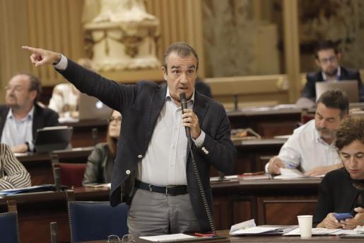 Juan Pedro Yllanes, durante el pleno del Parlament.