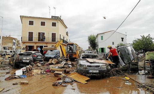 Imagen del desastre ocurrido en Sant Llorenç en la tormenta del 9 de octubre.