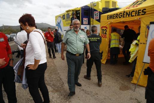 El coronel de la Guardia Civil, Jaume Barceló, en el centro de coordinación en Sant Llorenç.