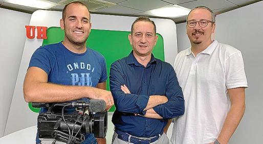 Alberto López, Manolol Coeto y Ricard Peitx, de Nova Producciones.