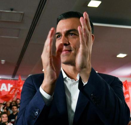 El presidente del Gobierno en funciones y candidato a la reelección por el PSOE, Pedro Sánchez.