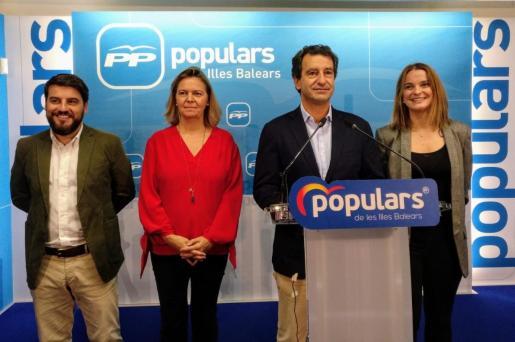 Javier Bonet, Maria Salom, Biel Company y Margalida Prohens.