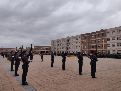 Acto de celebración de la Patrona de la Guardia Civil en Catalunya en la comandancia de Sant Andreu de la Barca (Barcelona).