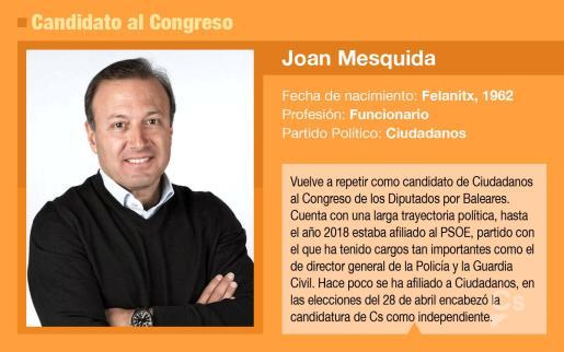 Joan Mesquida, candidato de Ciudadanos al Congreso por Baleares.