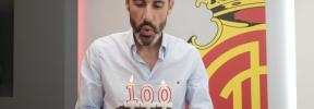 Vicente Moreno, cien partidos al frente del Real Mallorca