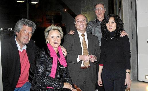 Bernd y Marlene Zlobinski, Daniel Coll, Carles Ricci y Xuejlun Chang.