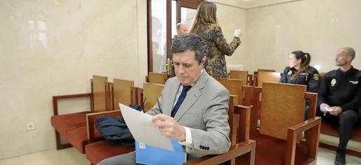 El expresident del Govern, Jaume Matas, en una vista del juicio del 'caso Turisme Jove'.