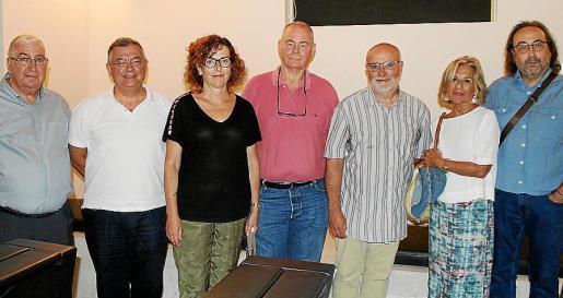 Juan Torres, Antoni Serra, Gloria Druguet, Antoni Ortega, Antoni Domingo, Bárbara Galmés y Rafel Guardiola.