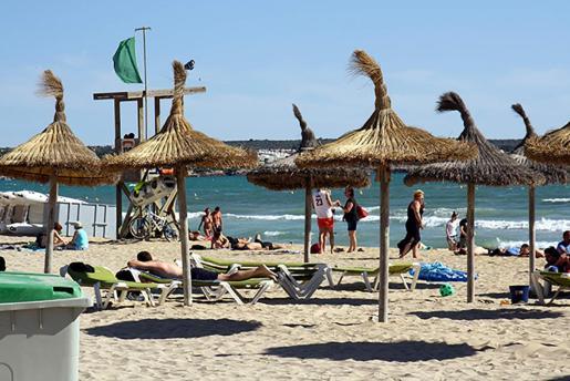Turistas en la Playa de Palma
