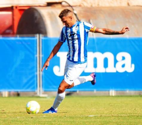 Guiem Vallori, durante un reciente partido del Atlético Baleares.