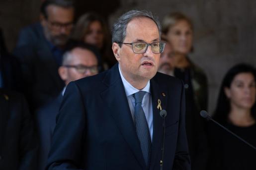 Declaración institucional del president de la Generalitat de Cataluña.