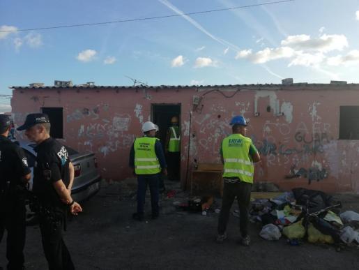 El Ajuntament de Palma ha derribado una vivienda del poblado de Son Banya.