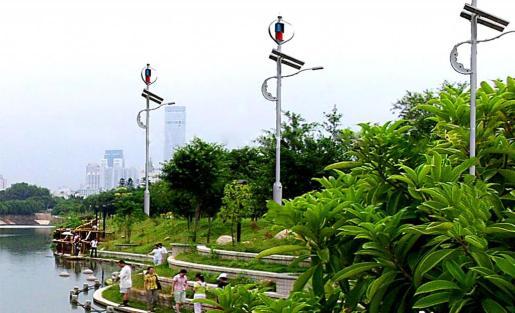 Este tipo de instalaciones existen ya en parques de ciudades chinas y también pueden ubicarse junto al mar.