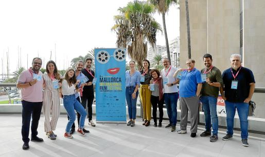 Algunos de los cineastas que participan en la sección 'Made in Baleares' del Evolution! Mallorca International Film Festival.
