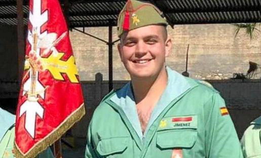 Alejandro Jiménez Cruz, el legionario fallecido.