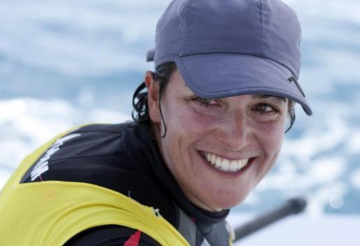 La regatista de la clase Laser Radial Alicia Cebrian, primera clasificada de su grupo.