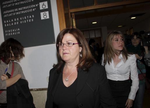 Eugenia Cañellas ha declarado esta mañana ante el juez.