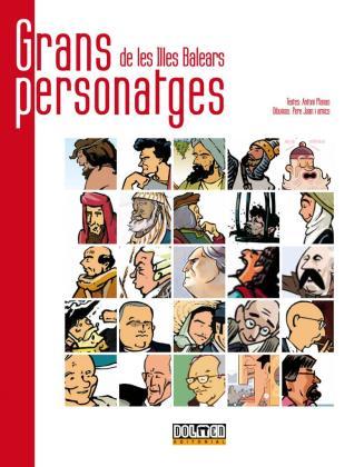 El álbum dedica dos páginas a cada personaje.