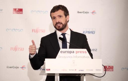 El candidato del PP, Pablo Casado.