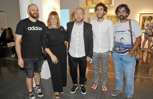 Javier Navarro 'El dios de los tres', Queta Socias, David Campaner, Antoni Simó y Pep Coll.