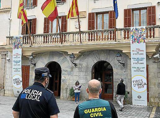 Operativo conjunto de Guardia Civil y Policía Local en Inca.