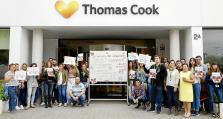 Protesta de trabajadores de Thomas Cook