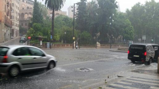 Lluvias en Palma.