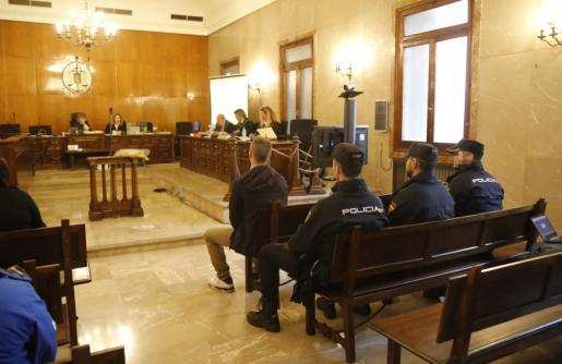 El parricida de Costa d'en Blanes, en una sesión del juicio.