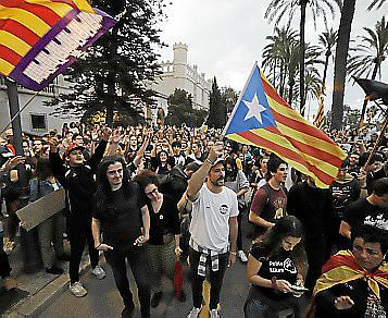 Manifestación contra la sentencia del 'procés' en Palma.