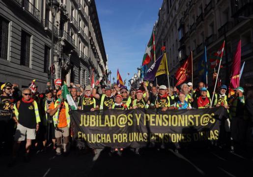 Los jubilados han realizado varias protestas para reclamar mejoras en las pensiones.