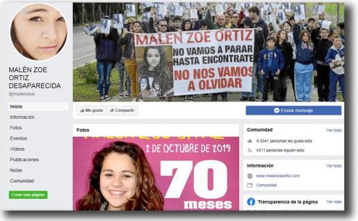 La joven Malén Ortiz era muy activa en las redes sociales.
